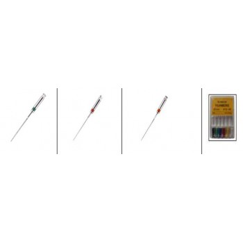 60pcs Limes endodontiques dentaire R-File Handy SCF alliage NiTi 21/25mm