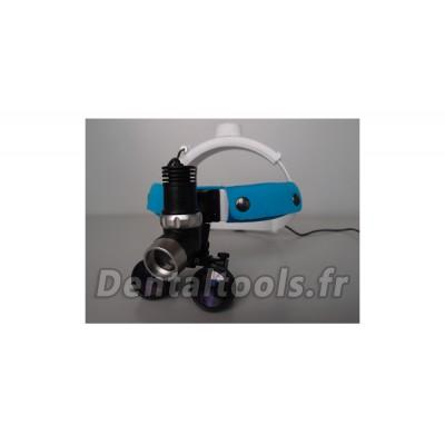 Micare® Lampe frontale dentaire avec Loupes 3.5 X JD2000