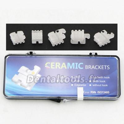 5 Packs Dentaires Roth 022 345 Hooks céramique bracket orthodontique esthétique (transparent / monocristallin)