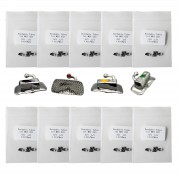 10 Kits 40pcs orthodontique dentaire tube vestibulaire molaire / non convertible / à coller (MBT 022)