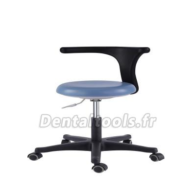Bureau médical dentaire Tabourets de l'assistant Smart réglable Chaise mobile PU Bleu