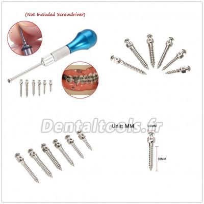 Auto-foreur Filetage Orthodontie dentaire Micro Implants Vis titane Mini vis