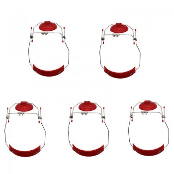5Pcs Orthodontie dentaire Casque traction inverse Ajustable Couleur rouge