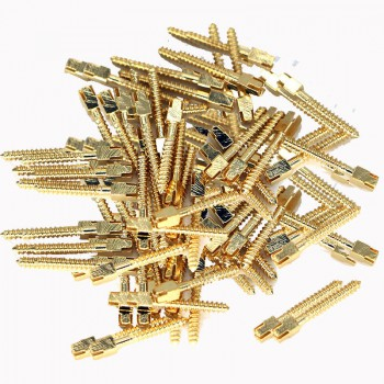 120Pcs Dentaire plaqué or 24K tige de vis broches tige filetée L1 # -L6 # VENTE