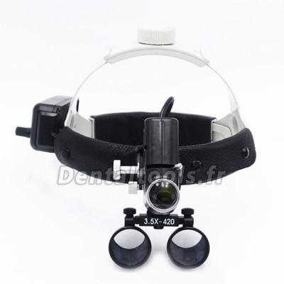 3.5X Loupe médical dentaire mit 5W LED phare lumière DY-106