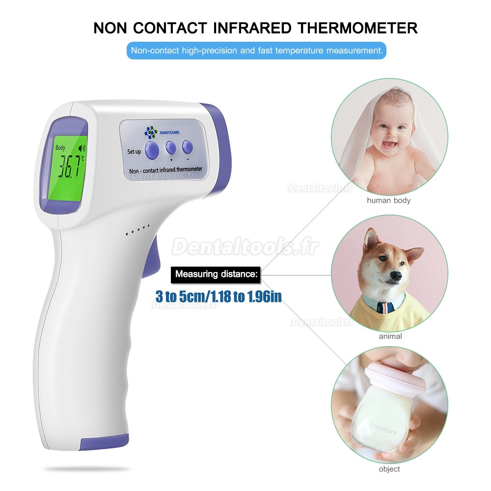 Thermomètre infrarouge numérique Thermomètre infrarouge sans contact Thermomètre frontal infrarouge