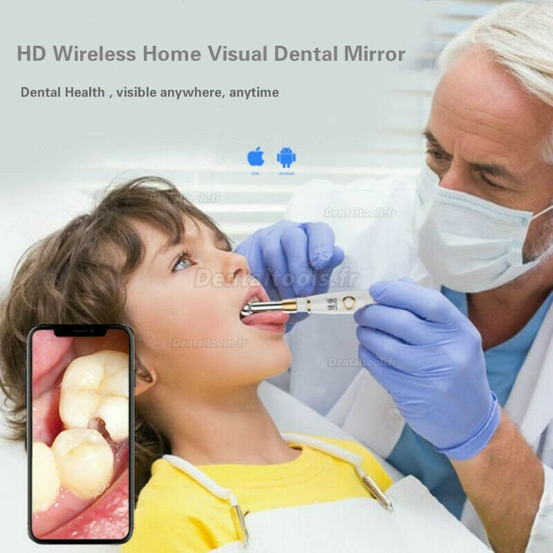 WIFI Caméra intraorale dentaire HD 720P IP67 Endoscope dentaire oral étanche pour Android IOS